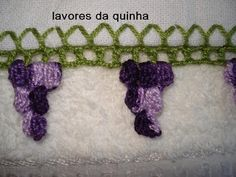 AS RECEITAS DE CROCHÊ: PAP de Bico de croche Uva em ponto pipoca