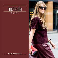 MARSALA CORES. Referências de moda Outono 2016