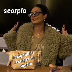 """astrology memes and more on Instagram: """"What's in my bag (part 1) still doing personal birth chart readings - dm me if interested/for more info 🥰"""" Scorpio Ascendant, Scorpio Compatibility, Astrology Scorpio, Virgo And Scorpio, Scorpio Zodiac Facts, Zodiac Funny, Zodiac Signs Scorpio, Zodiac Star Signs, My Zodiac Sign"""