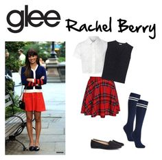 """""""Glee: Rachel Berry inspired outfit"""" by ahansen03 ❤ liked on Polyvore featuring Glamorous, Miu Miu, John Lewis, H&M, women's clothing, women's fashion, women, female, woman and misses"""