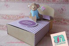 Bed box favor / Caja cama para dulces