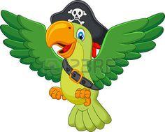 cartone animato: Cartoon pirata pappagallo