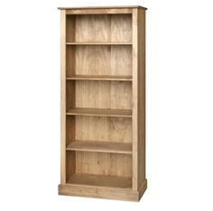 Cotswold tall bookcase in waxed pine