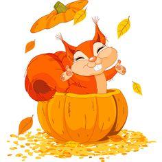 Pumpkin Squirrel