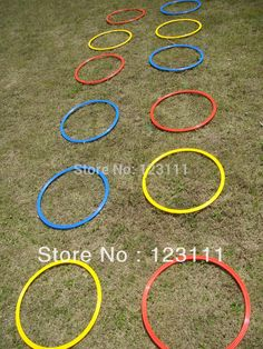 use hoola hoops for speed drills