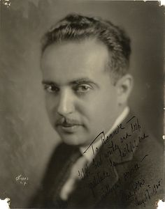 Paul Bern signed photograph. - by Profiles in History