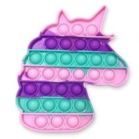 OMG Pop Fidgety - Rainbow Unicorn Glow-in-the-dark Unicorn Kids, Rainbow Unicorn, Toys For Girls, Kids Toys, Bubble Popper, Pop Bubble, Bubble Wrap, Figet Toys, Cool Fidget Toys