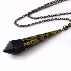 Colliers, Superbe Collier Mariage Bronze Vintage Pendule est une création orginale de WanderingSoul sur DaWanda