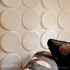 Pannelli tridimensionali wallart ellipses dal design moderno ed accattivante confezione in box da mq.3.