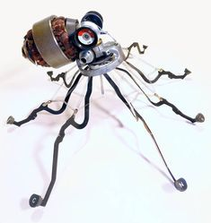 Octopus made from typewriter parts