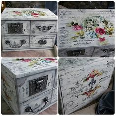 Новости Decoupage Box, Altered Boxes, Shabby Chic Style, Painted Furniture, Decorative Boxes, Crafty, Painting, Vintage, Design