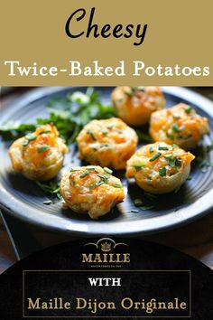 Best Baked Potato, Baked Potato Recipes, Potato Bar, Potato Side Dishes, Dishes Recipes, Recipies, Cooking Recipes, Twice Baked Potatoes, Cheesy Potatoes