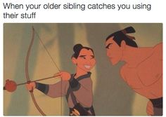 When you tried to borrow your older sibling's clothes but were caught red-handed: | 21 Pictures That Will Only Make Sense To People With Siblings