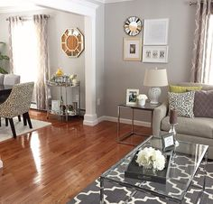 Living room- great divide between the 2 rooms