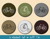 bike magnets - etsy