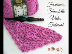 How to Crochet: Fortune's Shawlette (Right Handed) - YouTube