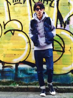 yuumaさんの「XL GASSES WELLINGTON(XLARGE)」を使ったコーディネート Dope Outfits, Japanese Fashion, Winter Jackets, Menswear, Urban, Mens Fashion, Men's Style, How To Wear, Clothes