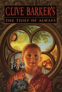 Thief of Always by Clive Barker...Harvey is bored with his life until a guy takes him to the Holiday House where each season and holidays happen each day. He discovers the dark secrets of this bittersweet house.