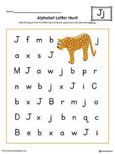 Alphabet Letter Hunt J Worksheet Color