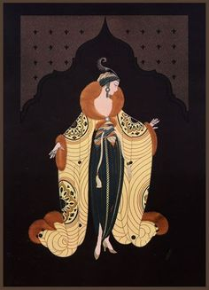 Art Deco and Romain de Tirtoff. A Russian-born French artist and designer known by the pseudonym Erté. He was a diversely talented 20th-century artist and designer who flourished in an array of fields, including fashion, jewellery, graphic arts, costume and set design for film, theatre, and opera, and interior decor.