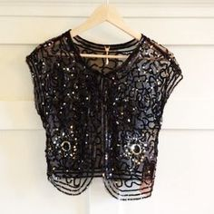 I just added this to my closet on Poshmark:  6126 by Lindsey Lohan sequins net vest NWT.. Price: $28 Size: S