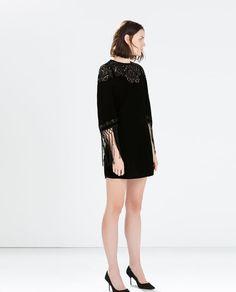 ZARA - WOMAN - SEQUIN EMBROIDERY VELVET DRESS