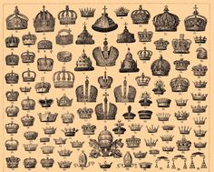 From the Brockhaus and Efron Encyclopedic Dictionary, published in Best viewed in original size format. Royal Crowns, Tiaras And Crowns, Ex Libris, Renaissance Hut, Crown Background, Crown Images, Joseph, Crown Jewels, Royal Jewels