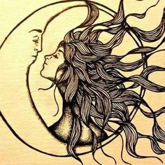 Sun and moon together