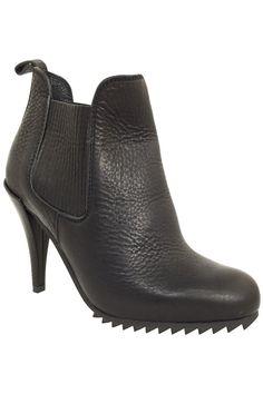 Pedro Garcia Black Leather High Heel Chelsea Boots / Sz 37.5