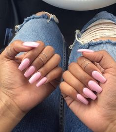 Beautiful Pink acrylic nails:)