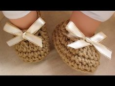 Craft Show Crochet Baby Booties - 3 to 6 mths old - YouTube