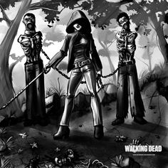 The Walking Dead (Michonne & impaired walkers) - The Walking Dead by ~LordMiste on deviantART