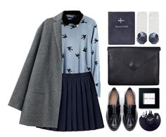 """UP WITH THE BIRDS"" by emmas-fashion-diary ❤ liked on Polyvore featuring Organic by John Patrick, Zara, Just Female, FOSSIL, Monki and Bobbi Brown Cosmetics"
