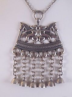 Kalevala Koru Modernist Finland Sterling Silver Horse Rider & Bells Finnish Rare Silver Horse, Finland, Antique Jewelry, Vintage Antiques, Jewelry Watches, Horses, Pearls, Sterling Silver, Ebay