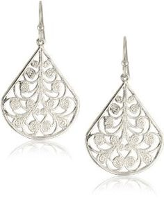 1928 Jewelry Silver Vine Earrings     I love this. The shape is almost like water droplets. So cute. A color that will go with anything you wear.