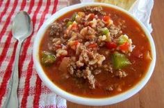 Source:              1 lb. ground beef  1 small onion, diced  1 large bell pepper, diced  1 can (29 oz.) diced tomatoes  1 (10 oz) can ...