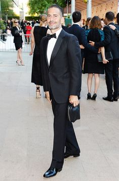 Marc Jacobs in a black tuxedo