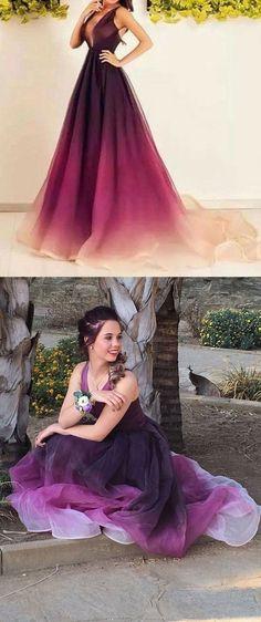 Homecoming Dress, Prom Dresses, Long Bridesmaid Dresses, Long Evening Dresses, Sexy Evening Gowns, Formal Dress, Party Dresses, Gradient Prom dress,Backless dress