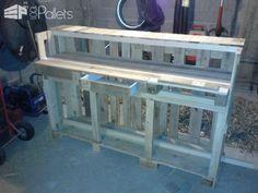 Kitchen Pallet Worktop DIY Pallet Bars