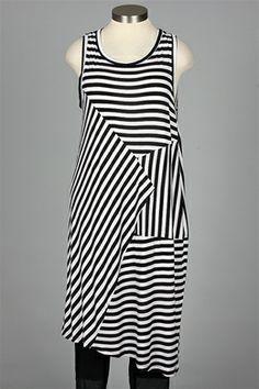 Comfy USA - Sharon Jumper - Black & White Stripe