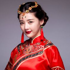Chinese costume headdress + earrings