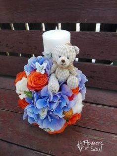 Flowers of Soul: Lumanari de botez Baptism Candle, Candels, 4th Of July Wreath, Decoupage, Baby Boy, Baby Shower, Wreaths, Weddings, Party