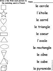 Match French Words and Pictures. French Language Lessons, French Language Learning, French Lessons, Spanish Lessons, Spanish Language, German Language, French Teaching Resources, Teaching French, Teaching Spanish