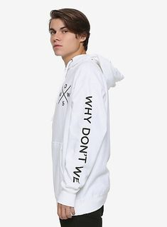13eae89989fa Why Don t We White Logo HoodieWhy Don t We White Logo Hoodie