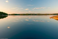 The lake of Saimaa, one of the biggest lakes in Europe. My hometown Mikkeli is surrounded by Saimaa.