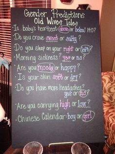 Gender reveal- old wives tales