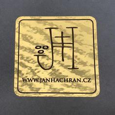 The golden sticker Jan Hachran (designed by me) / Zlatá nálepka Jan Hachran (vytvořená podle mého výtvarného návrhu)