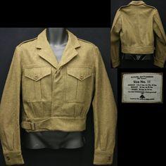 1953 British Battledress Blouse Coat - $75