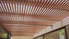 Pérgola acabado madera // Wood finish pergola