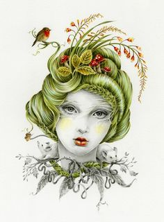 I just discovered Courtney Brims artwork! Would make awesome tattoos :)